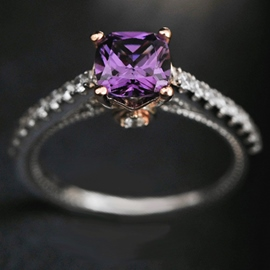 Ericdress Classic Purple Zircon Ring
