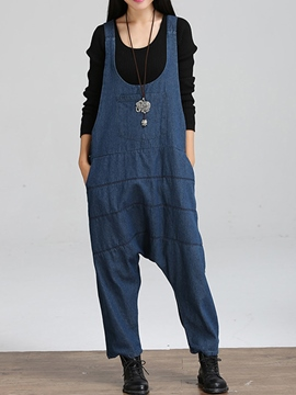 Ericdress Loose Suspender Pants