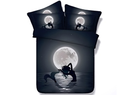 Ericdress Mermaid Under The Moonlight Print 3D Bedding Sets