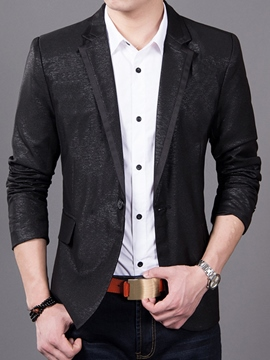 Ericdress Vogue Patchwork Lapel Slim Casual Men's Blazer