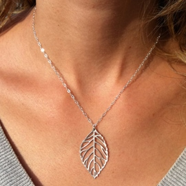 Ericdress Metal Leaf Hollow Pendant Necklace