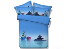 Ericdress Serenity Lotus Pool Print 3D Bedding Sets