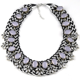 Ericdress Black and White Beads Design Necklace