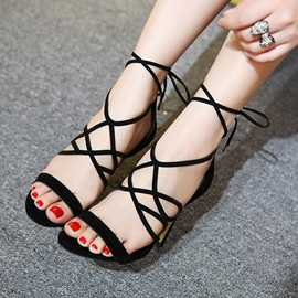 Ericdress Fashion Lace up Stiletto Sandals