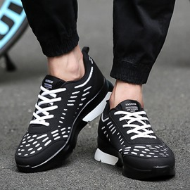 Ericdress Chic Round Toe Lace-Up Men's Sneakers