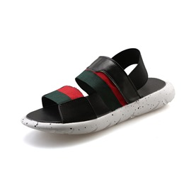 Ericdress Color Block Flat Heel Peep Toe Men's Sandals