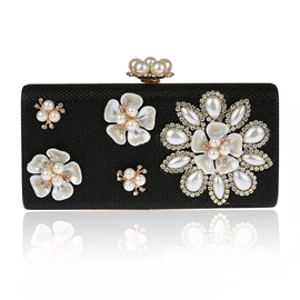 Ericdress Pearl Floral Evening Clutch