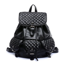 Ericdress Trendy Plaid Pocket Backpack