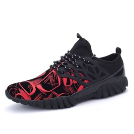 Ericdress Round Toe Patchwork Floral Men's Sneakers