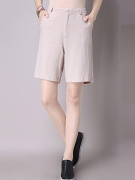 Ericdress Simple Straight Shorts