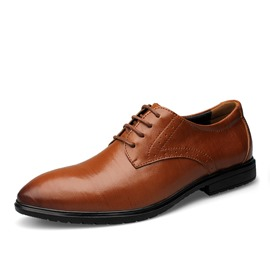 Ericdress Cool Lace-Up Pointed-Toe Square Heels Men's Oxford