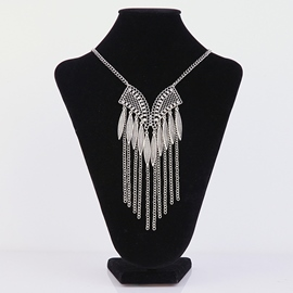 Ericdress Chain Tassels E-Plating Necklace