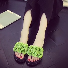 Ericdress Flower Beach Mules Shoes