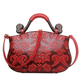 Ericdress Vintage Embossed Handbag