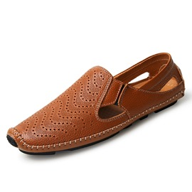 Ericdress PU Thread Cut-Out Men's Loafers