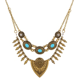 Ericdress Multilayer Retro Carved Women's Necklace