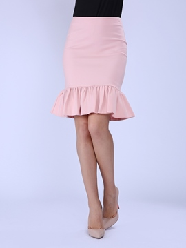 Ericdress Solid Color Mermaid Column Skirts