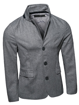 Ericdress Casual Stand Collar Slim Men's Jacket