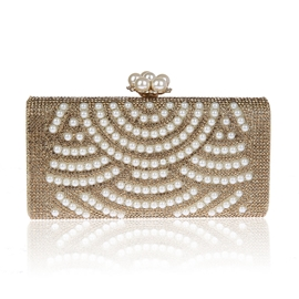 Ericdress Diamante Pearl Decorated Handbag