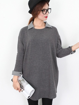 Ericdress Lapel Pullover Loose Knitwear