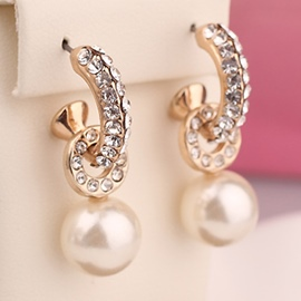 Ericdress Exquisite Pearl Stud Earrings