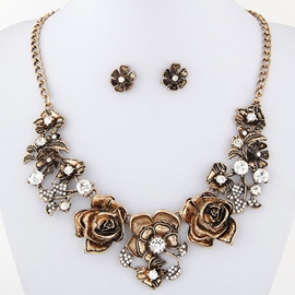 Ericdress Vintage Metal Flowers Jewelry Set