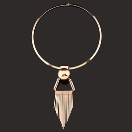 Ericdress Alloy Tassels Round Necklace