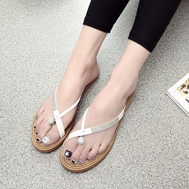 Ericdress Rhinestone Toe Ring Mules Shoes