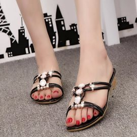 Ericdress Glittering Beads Mules Shoes