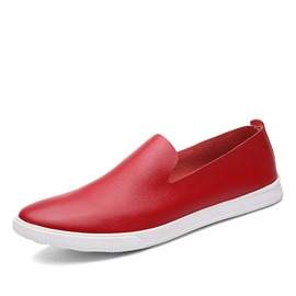 Ericdress Solid Color Round Toe Low-Cut Men's Loafers