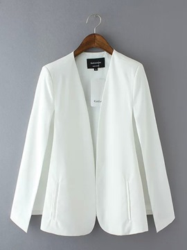 Ericdress Solid Color Cape Slim Blazer