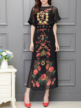 Ericdress Floral Dress Suit