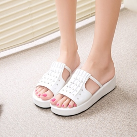 Ericdress Rhinestone Open Toe Mules Shoes