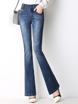 Ericdress Classic Flared Jeans