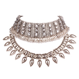 Ericdress Retro Multilayer Alloy Choker Necklace