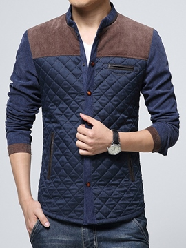 Ericdress Thick Patchwork Slim Men's Jacket