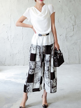 Ericdress Casual Wide Legs Pants Suit