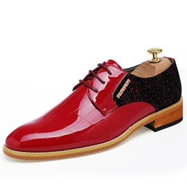 Ericdress Patchwork Patent Leather Men's Oxfords