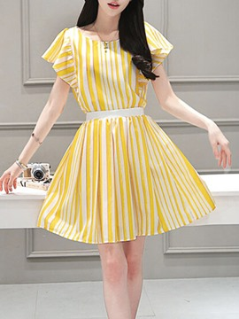 Ericdress Ladylike Stripe Suit