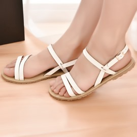 Ericdress All Match Open Toe Flat Sandals