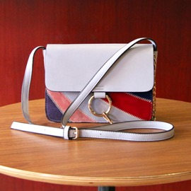 Ericdress Rainbow Stripe Crossbody Bag