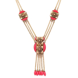 Ericdress Red Tassels Pendant Multilayer Necklace