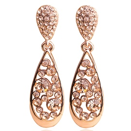 Ericdress Champagne Full Rhinestones Earrings