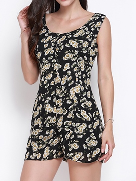 Ericdress Fashion Floral Print Rompers
