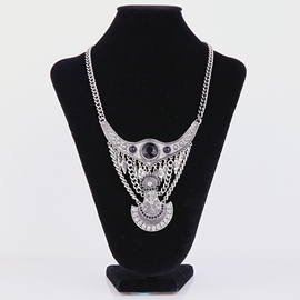 Ericdress Vintage Style Silver Plated Necklace
