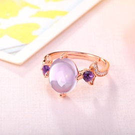 Ericdress Charming Purple Crystal Ring