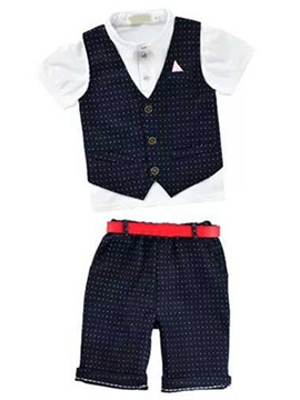 Ericdress Formal Bow Polka Dots Boys Outfits