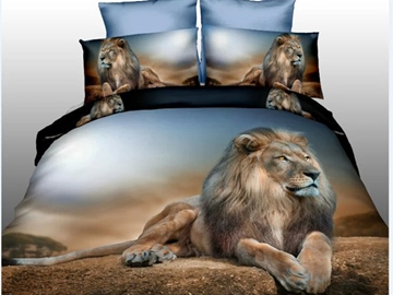 Ericdress Mighty Lion King Print 3D Bedding Sets