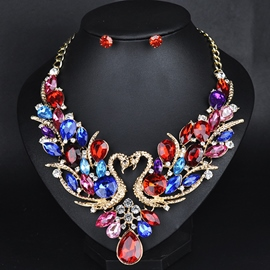 Ericdress Shining Colorful Crystal Jewelry Set