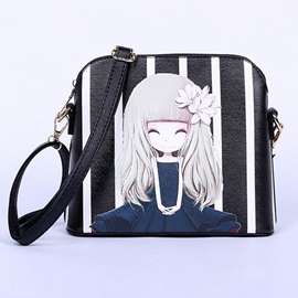 Ericdress Cool Cartoon Stripe Print Crossbody Bag